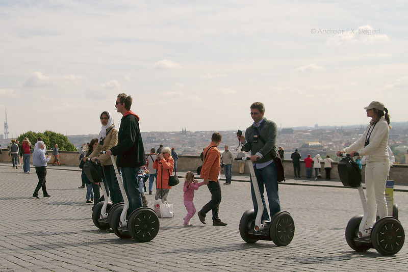 Segway tourists