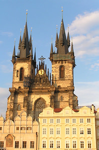 Big castle in the centure of Prague