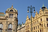 146 Building and street light detail, Prague