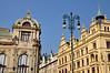 146 Building and street light detail, Prague