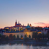 Prague Castle & Vltava River at Sunset