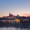 Prague Castle & Vltava River at Sunset