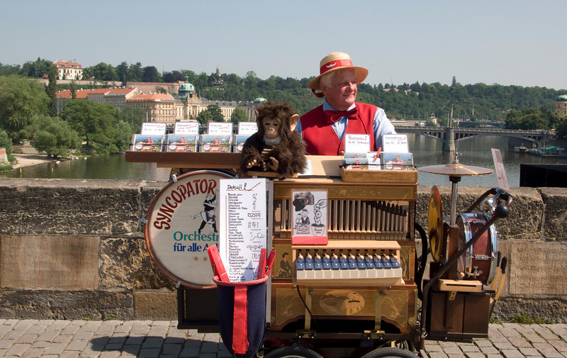 Organ Grinder on St. Charles Bridge