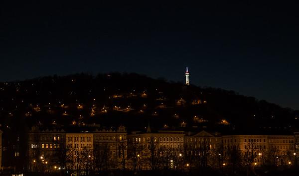 Praha at night