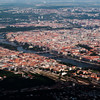 Arial view - Prague and the Vltava river