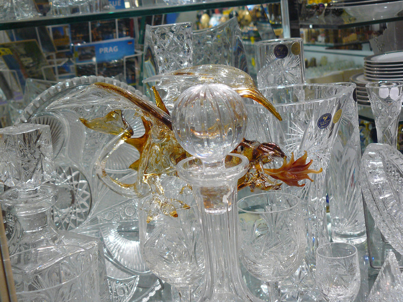 Hard to see, glass dragon