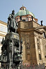 Statue of Charles 4th in front of Church of St Francis near Charles Bridge, Prague