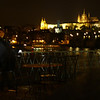 Wife at Charles Bridge - Prague At Night - Day1