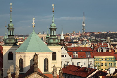 Prague is a city of churches and steeples.