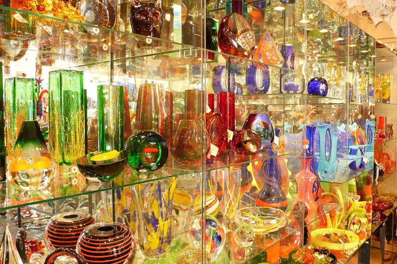 Glassware in Prague