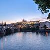 Charles Bridge, Vltava River & Prague Castle
