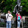 Picture me in front of the attraction - 8<br /> Franz Kafka monument, Prague