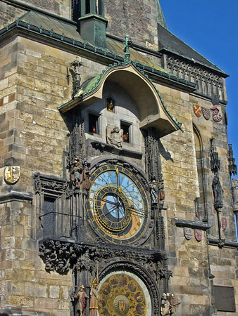 The Astronomical clock at town square, Prague, Czec Republic