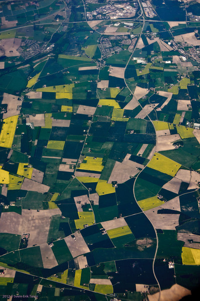 Going there - agricultural pattern,<br /> passing Germany