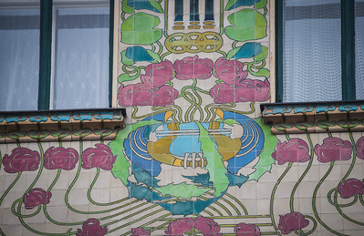 Vienna: The Majolica House, detail