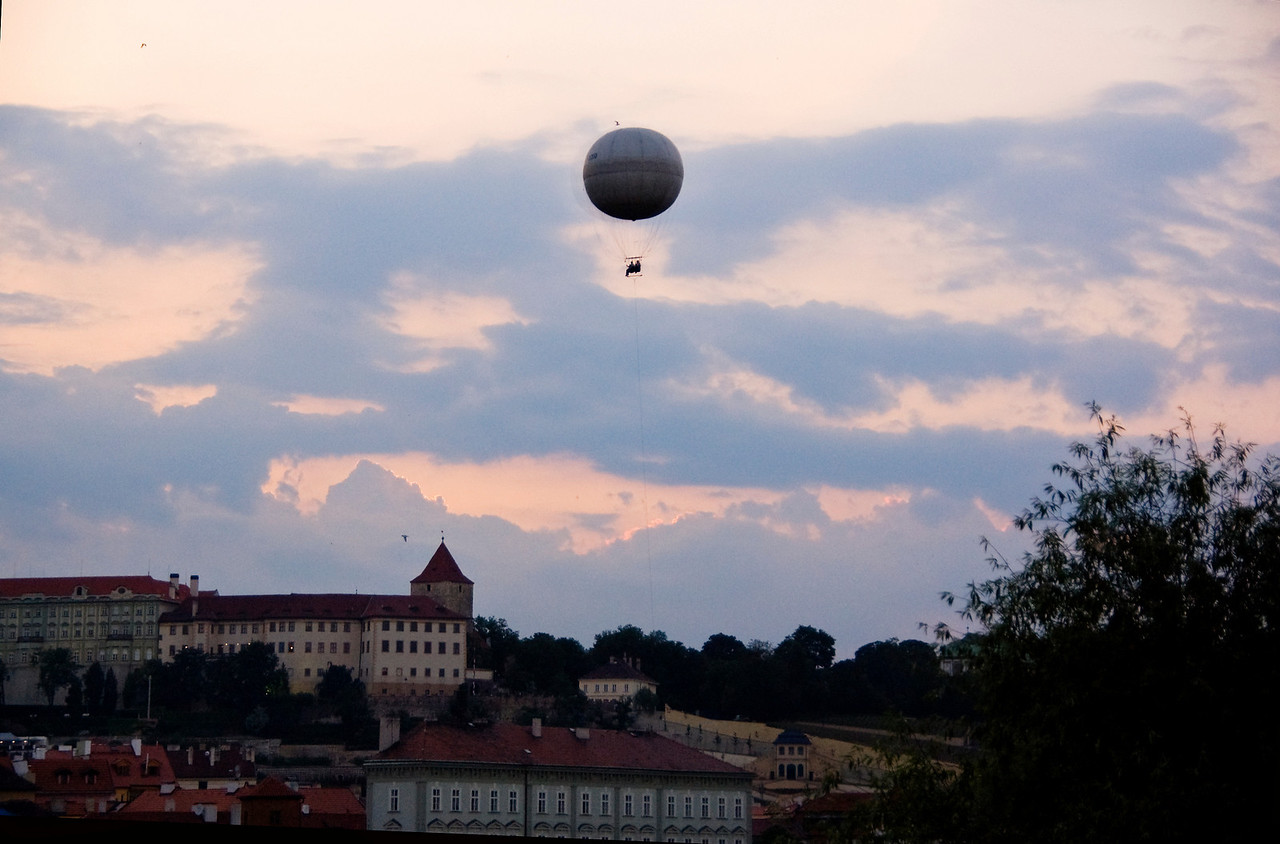 Balloon ride over Prague