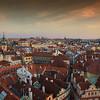 Prague Rooftops at Sunset