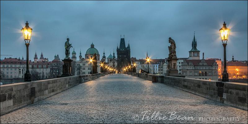 Prague - Charles Bridge at Dawn