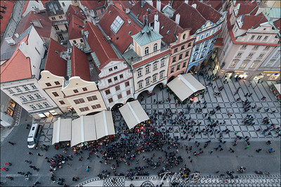 Prague - bird's eye view from the Town Hall Tower
