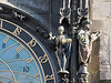 A number of figures adorn the clock.  This skeleton pulls a chain when the clock chimes.