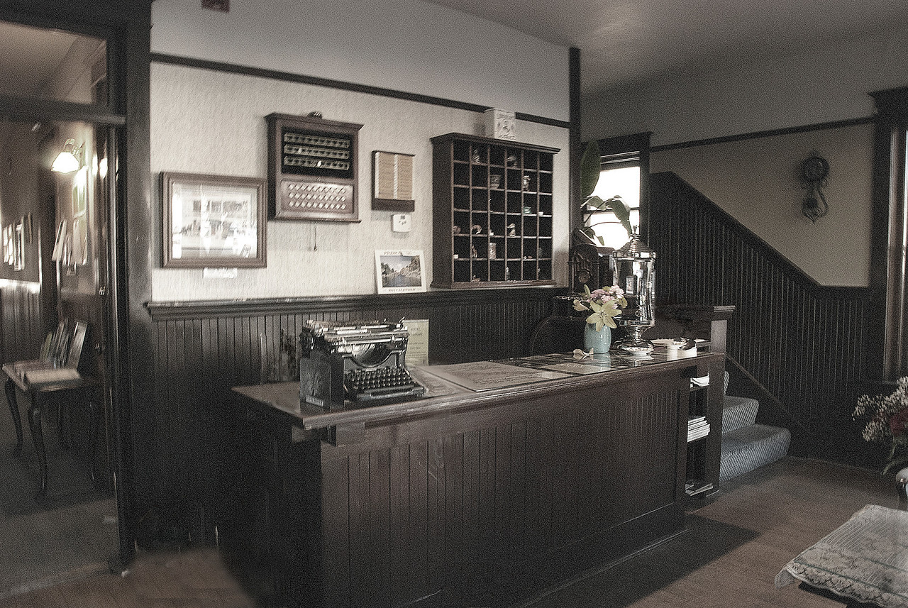 Front desk of Hotel Vendome