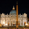 Basilica di San Pietro in Vaticano at night (St. Peter's Basilica)