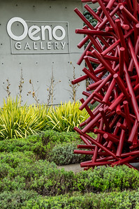 The Oeno Gallery at the Huff  Estates Winery has an outdoor space filled with amazing sculptures.
