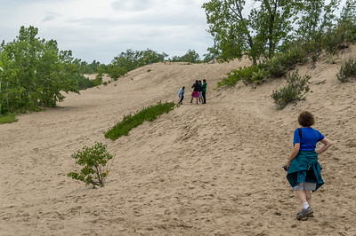 Sandbanks Provincial Park is incredible.  It is the largest baymouth barrier sand dune in the world.