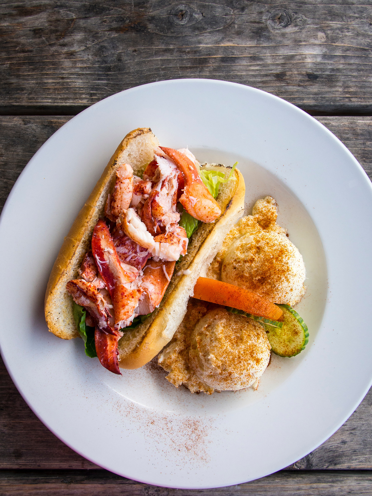 Where to eat in PEI: Don't miss the lobster barn in Victoria by the Sea for their lobster roll.