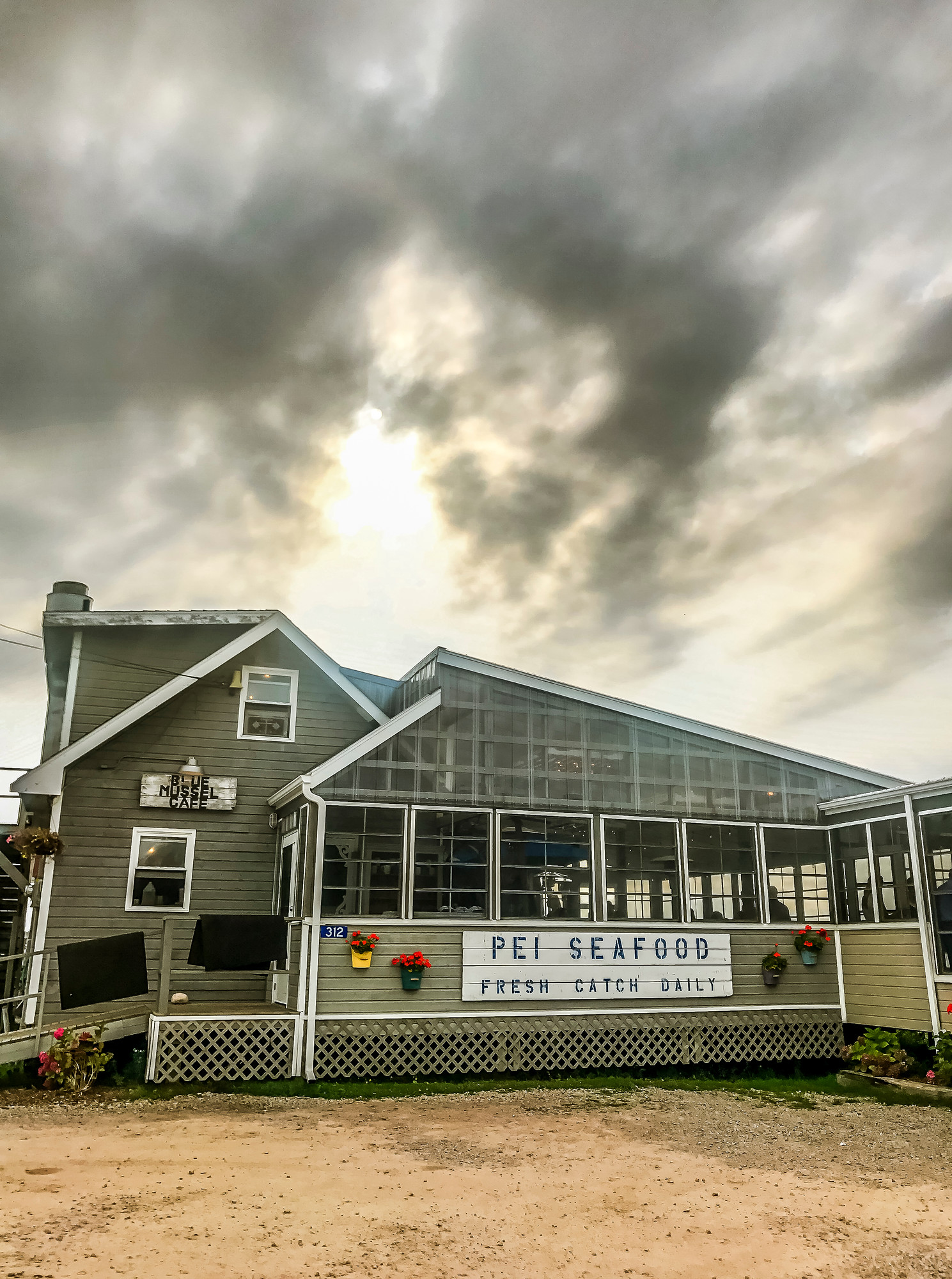 Where to Eat in PEI: Blue Mussel Cafe in North Rustico has great food in a quaint setting.