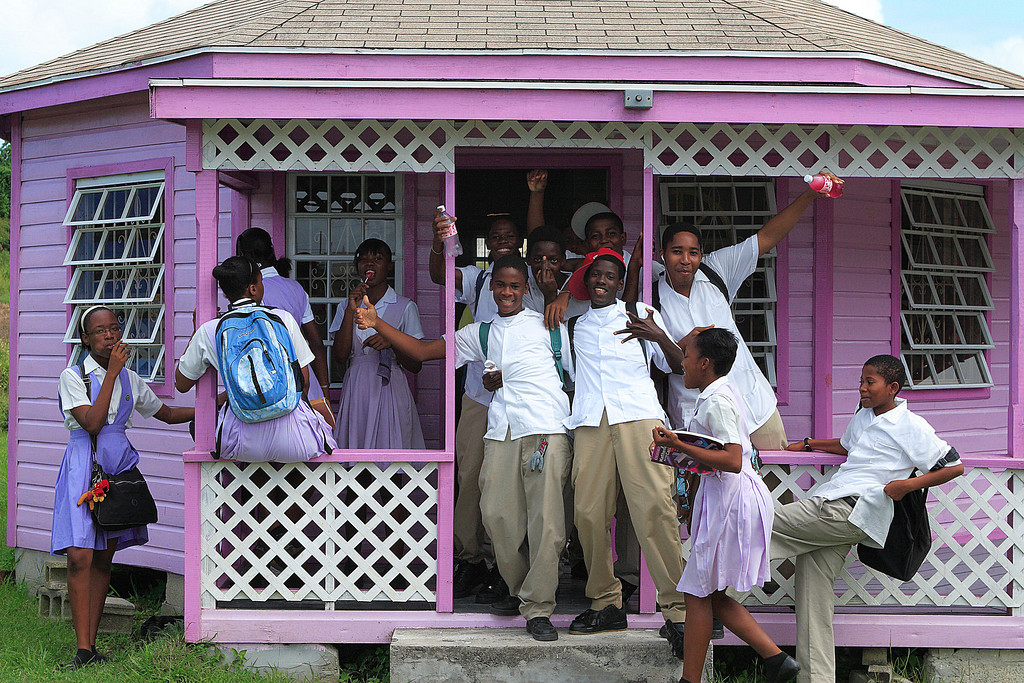 Shool children,Antigua