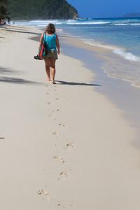 Pam strolling in Tortola
