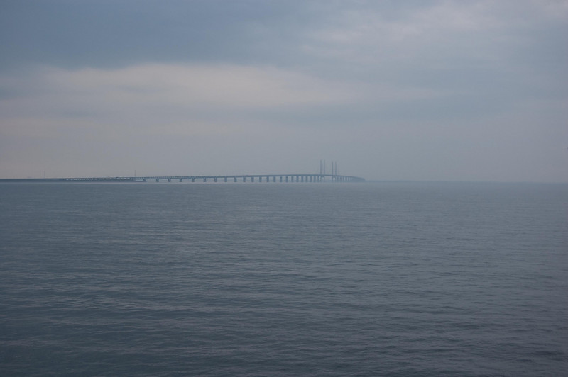 At Sea on Way to Copenhagen 6/10/10 5:33 Am  --Bridge to Malmo Sweden