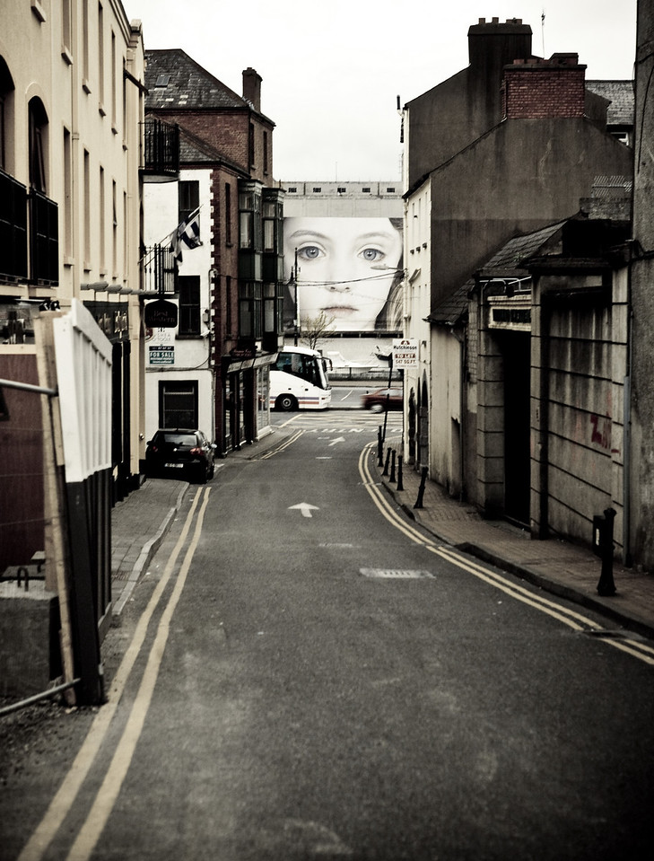 Girl at the End of the Street. Waterford, Ireland.