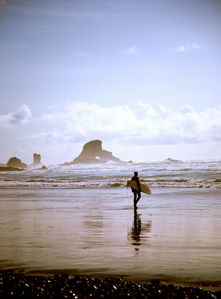 Surfer. Oregon Coast.