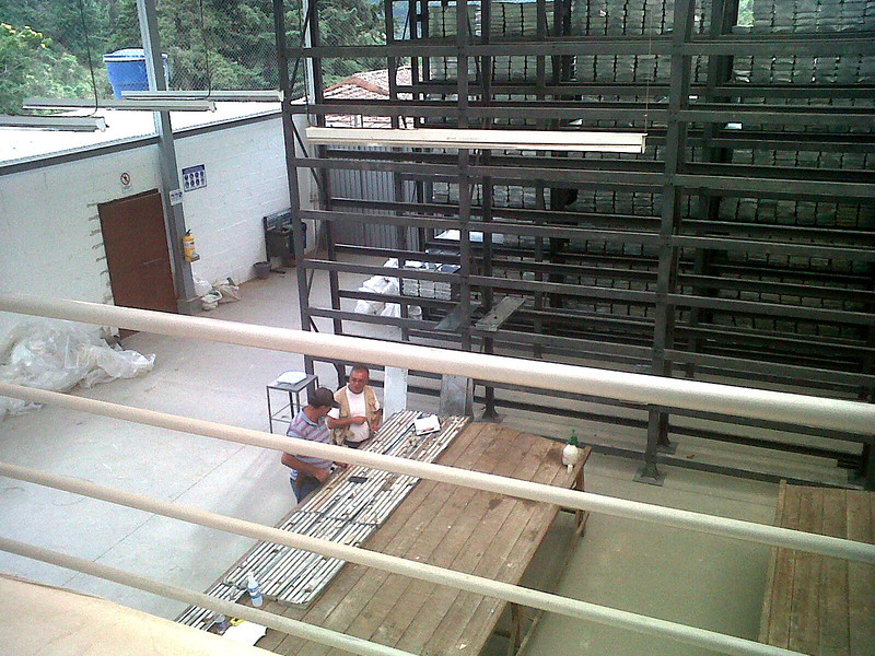 View of the coreshack from my office on the second floor.