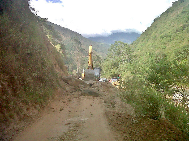 Another landslide on the road.