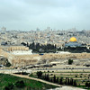 Here one can see the walls surrounded the old city with Temple Mount predominating.