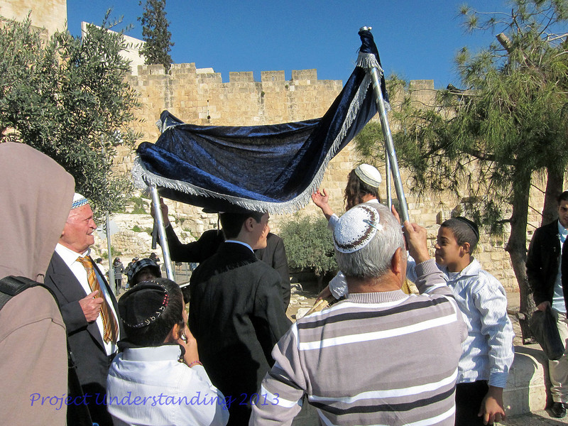 Before we left the Old City, we saw the preparations for a Bar-mitzvah, a common event especially on Mondays.