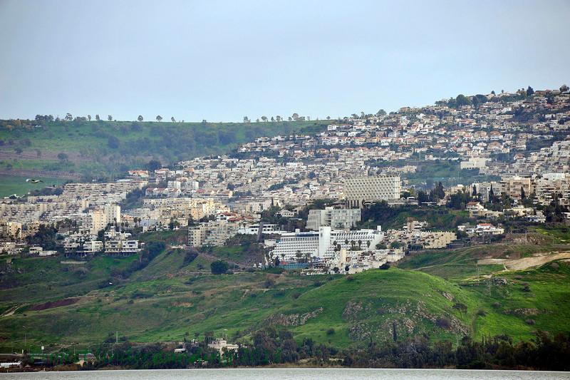 View of the city of Tiberias.