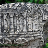 "Here at Capernaum, they had a movable bema as this stone cutting illustrated.  The bema became a standard fixture in Jewish synagogues from which a selection (""parashah"") from the Torah and the Haftarah are read. In Orthodox Judaism, the bema is located in the center of the synagogue, separate from the Ark. In other branches of Judaism, the bema and the Ark are joined together.<br /> <br /> The ceremonial use of a bema carried over from Judaism into early Christian church architecture. It was originally a raised platform with a lectern and seats for the clergy, from which lessons from the Scriptures were read and the sermon was delivered. In Western Christianity the bema developed over time into the chancel (or presbytery) and the pulpit."
