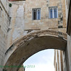 "Famous Roman arch near Ecce Homo.  ""Ecce Homo"" refers to John 19:5 : ""Jesus came out, wearing the crown of thorns and the purple robe. Pilate said to them: ""Behold the man""."