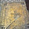 Old Crusader tile inside Domius Flevit.