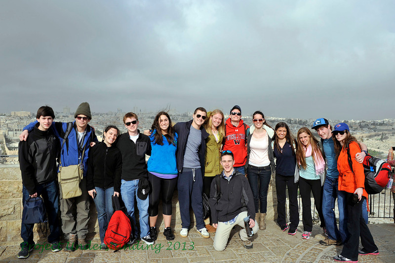 On February 16th, our group of 6 Jewish students and 6 Catholic students came to the Mount of Olives for an overview of the city.