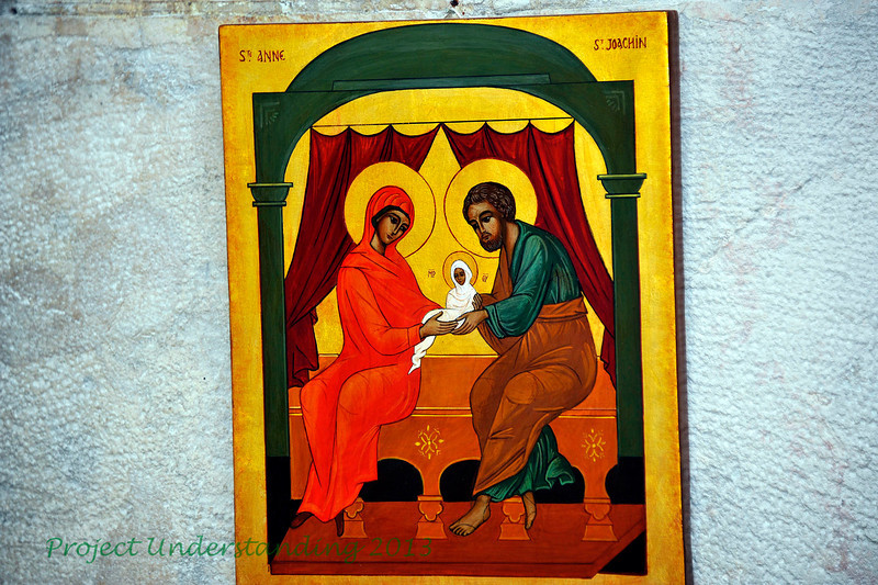 Some of the icons depicting St. Anne and St. Joachim, the parents of Mary.