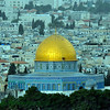 From the Mount of Olives, you overlook the old city of Jerusalem.  Here is the Dome of the Rock.