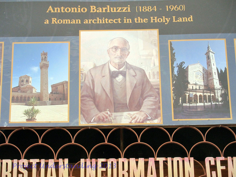 There was even an exhibit on the Italian architect who built so many modern churches, like Dominus Flevit, Church of All Nations, Church of the Beatitudes, etc.
