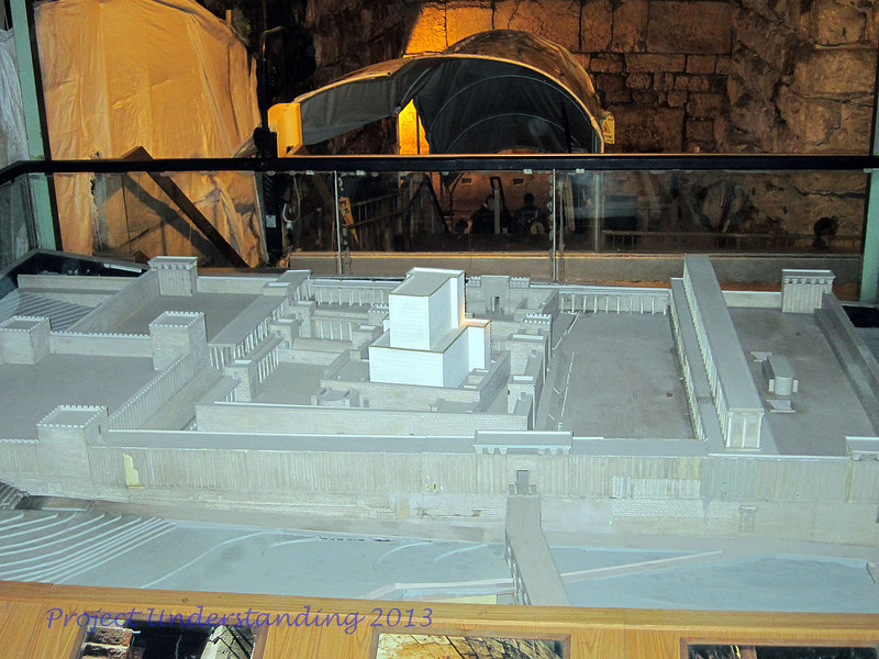 Here is a model showing the 2nd Temple.
