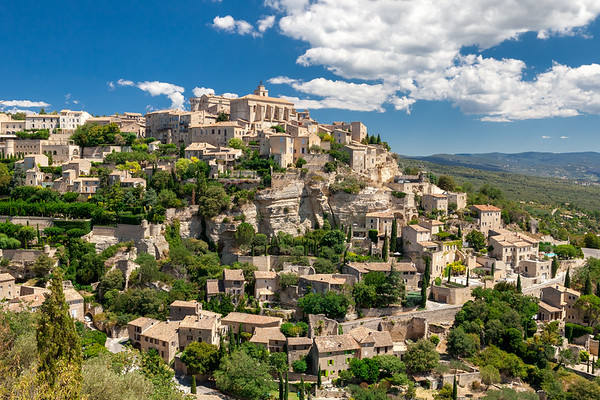 View of the hilltop village of Gordes, Provence, France, 2012