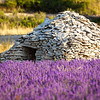 "A Borie - dry-stoned ""house"" against bad weather, Sault village, Vaucluse, Provence, France"